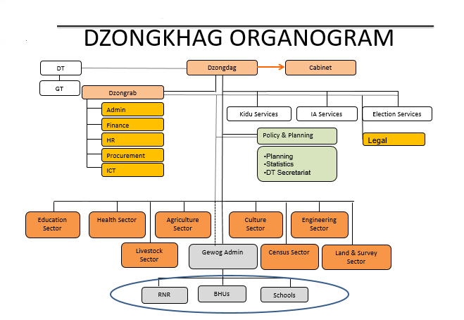 Organogram of the Dzongkhag