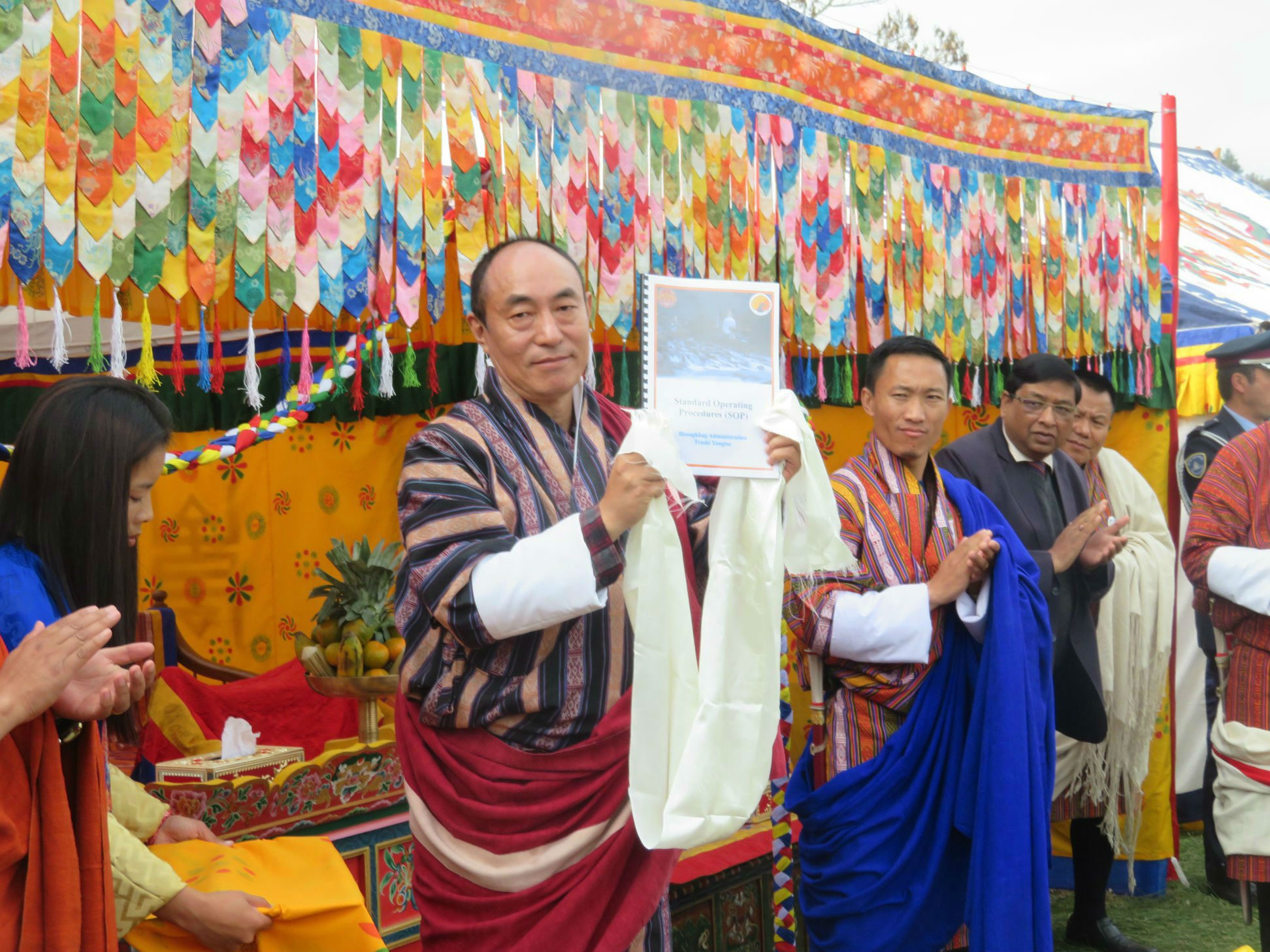 Dzongkhag's Standard Operating Procedure(SOP) document for sectoral heads was launched by Dasho Dzongdag